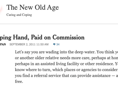 the new old age: caring and coping