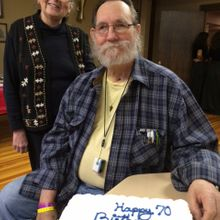 finally got to celebrate his 70th birthday--a week late!