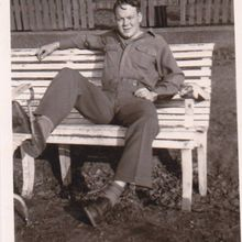 Dad kicked back - WWII