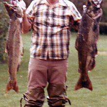 Dad with Michigan fish about 1980.