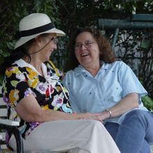 me visiting with my mom--one of the good memories