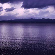 Storm clouds on Yellowstone Lake