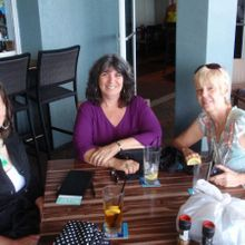 Debbie, who cared for her husband, Pegi (worriedwife) met Denise for lunch in Ft. Lauderdale in November 2013 after returning from our Caregiving.com cruise.