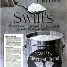 Swift's Silverleaf Brand Pure Lard
