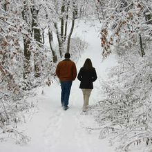 A winter walk is good for your heart and soul.