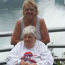 Christine and her mom.